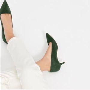 New Everlane The Editor Heel – Dark Green